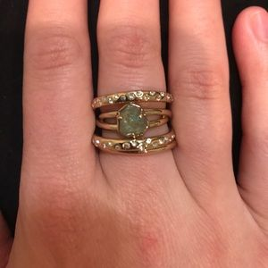 Alexis Bittar Kinetic Gold Rotating Stack Ring